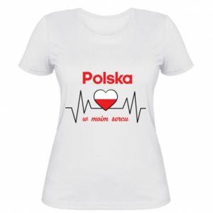 Damska koszulka Polska w moim sercu
