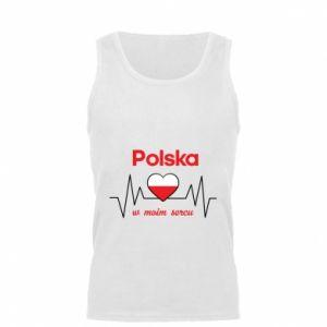 Men's t-shirt Poland in my heart - PrintSalon