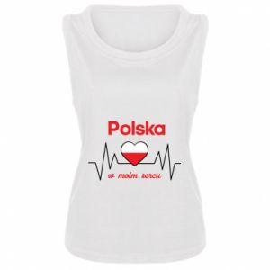 Women's t-shirt Poland in my heart