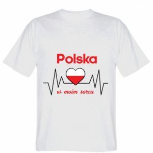 Koszulka męska Polska w moim sercu