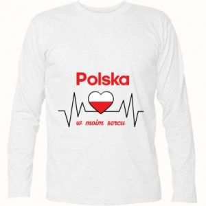 Long Sleeve T-shirt Poland in my heart - PrintSalon