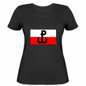 Women's t-shirt Fighting Poland and the flag of Poland