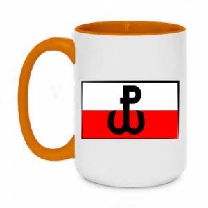 Kubek dwukolorowy 450ml Polska Walcząca i flaga Polski