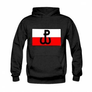 Bluza z kapturem dziecięca Polska Walcząca i flaga Polski