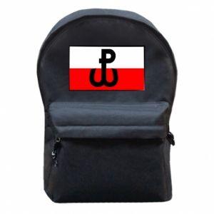Plecak z przednią kieszenią Polska Walcząca i flaga Polski