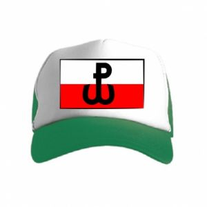 Czapka trucker dziecięca Polska Walcząca i flaga Polski
