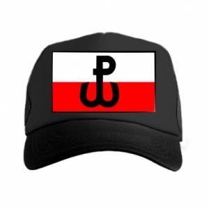 Czapka trucker Polska Walcząca i flaga Polski