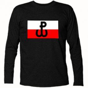 Koszulka z długim rękawem Polska Walcząca i flaga Polski