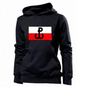 Damska bluza Polska Walcząca i flaga Polski