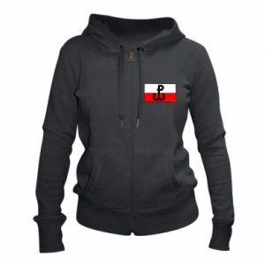 Damska bluza na zamek Polska Walcząca i flaga Polski