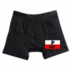 Bokserki męskie Polska Walcząca i flaga Polski