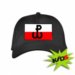 Dziecięca czapeczka z daszkiem Polska Walcząca i flaga Polski