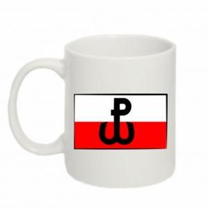 Kubek 330ml Polska Walcząca i flaga Polski