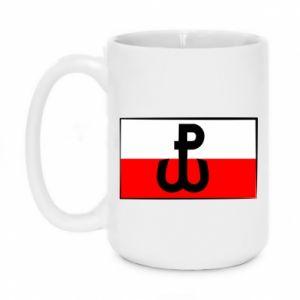 Kubek 450ml Polska Walcząca i flaga Polski