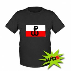 Kids T-shirt Fighting Poland and the flag of Poland