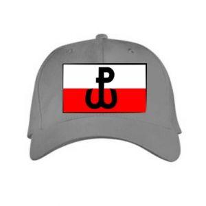 Czapka Polska Walcząca i flaga Polski