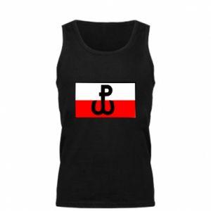 Męska koszulka Polska Walcząca i flaga Polski