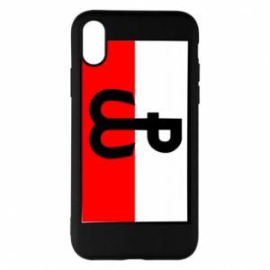 Etui na iPhone X/Xs Polska Walcząca i flaga Polski