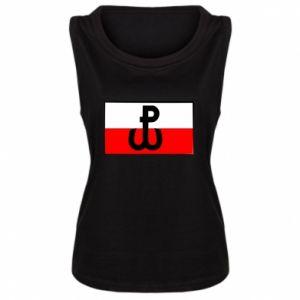 Damska koszulka bez rękawów Polska Walcząca i flaga Polski