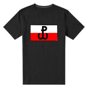 Męska premium koszulka Polska Walcząca i flaga Polski