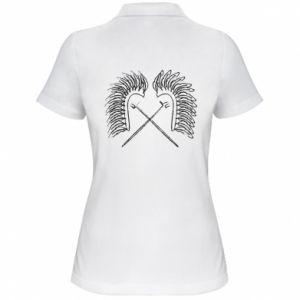 Damska koszulka polo Polska. Husaria