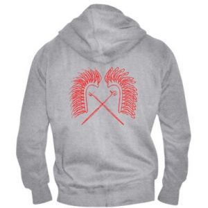 Men's zip up hoodie Poland. Hussars - PrintSalon