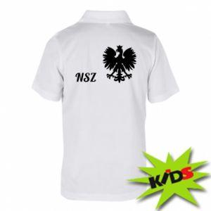 Dziecięca koszulka polo Polska. NSZ