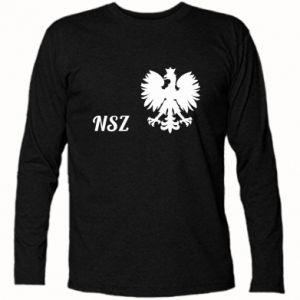 Koszulka z długim rękawem Polska. NSZ