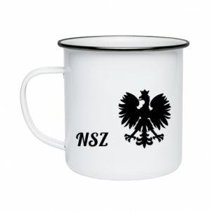 Kubek emaliowane Polska. NSZ