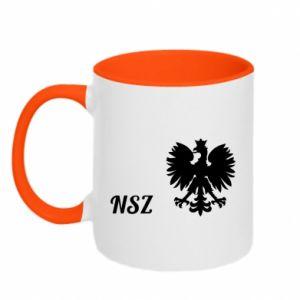 Kubek dwukolorowy Polska. NSZ