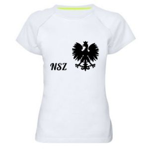 Damska koszulka sportowa Polska. NSZ