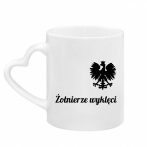 Mug with heart shaped handle Poland. Cursed soldiers