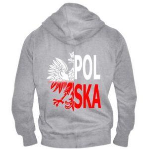 Męska bluza z kapturem na zamek Polska