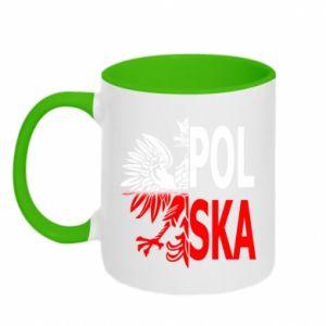 Kubek dwukolorowy Polska