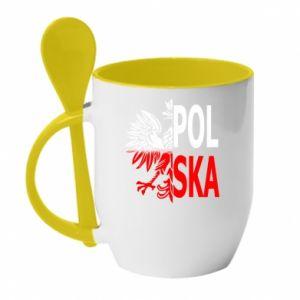 Kubek z ceramiczną łyżeczką Polska
