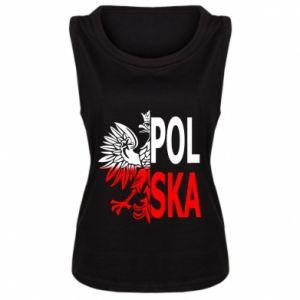 Damska koszulka bez rękawów Polska