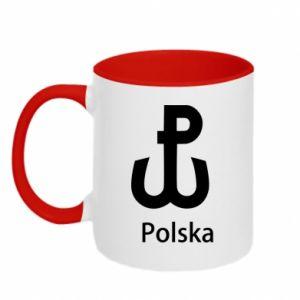 Kubek dwukolorowy Polska Walcząca