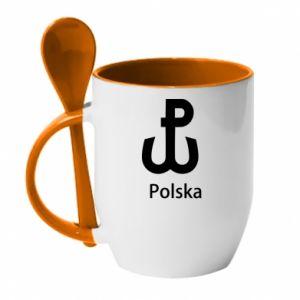 Kubek z ceramiczną łyżeczką Polska Walcząca
