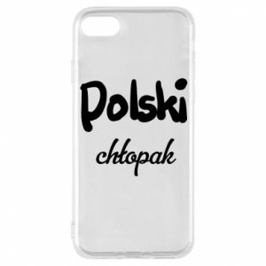 Phone case for iPhone 8 Polish boy - PrintSalon