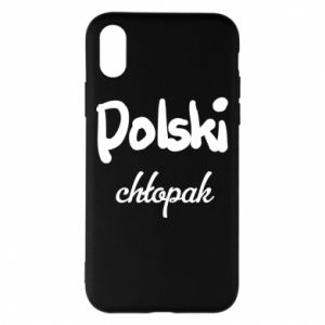 Phone case for iPhone X/Xs Polish boy - PrintSalon