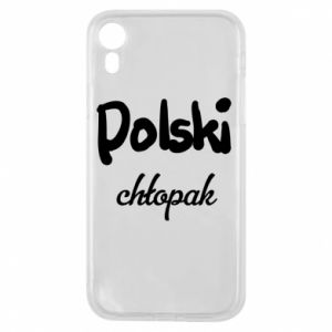 Phone case for iPhone XR Polish boy - PrintSalon
