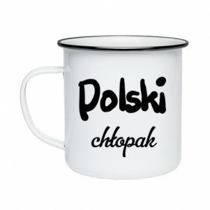 Enameled mug Polish boy - PrintSalon