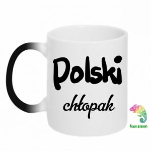 Chameleon mugs Polish boy - PrintSalon