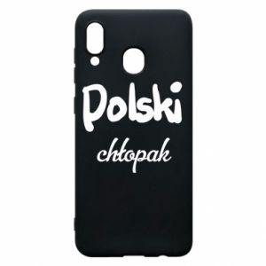 Phone case for Samsung A20 Polish boy - PrintSalon