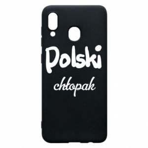 Phone case for Samsung A30 Polish boy - PrintSalon