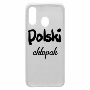 Phone case for Samsung A40 Polish boy - PrintSalon