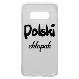 Phone case for Samsung S10e Polish boy - PrintSalon