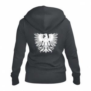 Damska bluza na zamek Polski herb - PrintSalon