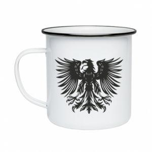 Kubek emaliowane Polski herb - PrintSalon