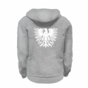 Kid's zipped hoodie % print% Polski herb